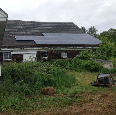 Solar PV  on barn